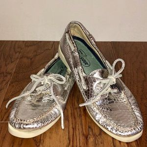 Sperry Metallic Leather Top-Sider Boat-shoes